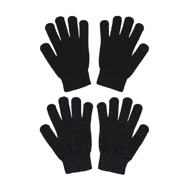 Young Original Kids' Touch Screen Gloves 2 Pack, Navy, hi-res