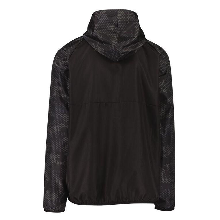 Active Intent Men's 1/4 Zip Run Jacket, Black, hi-res