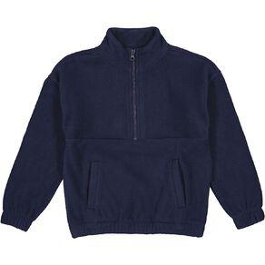 Young Original Microfibre Funnel Zip-Thru Sweatshirt