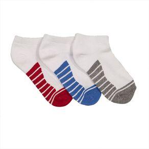 Underworks Kids' Low Cut Sport Socks 3 Pack