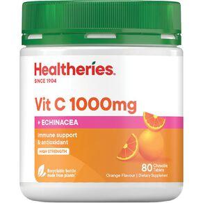 Healtheries Vitamin C + Echinacea 1000mg Chewable 80s