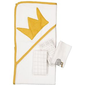 Babywise Crown Hooded Towel and Facewasher Set
