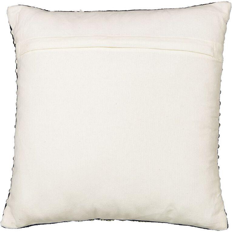 Living & Co Diamond Border Cushion Black 45cm x 45cm, Black, hi-res