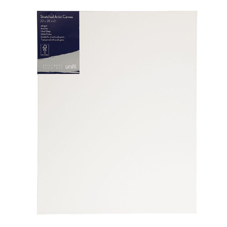 Uniti Platinum Canvas 22x28 Inches 380Gsm, , hi-res