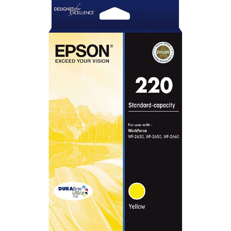 Epson Ink 220 Yellow (165 Pages), , hi-res