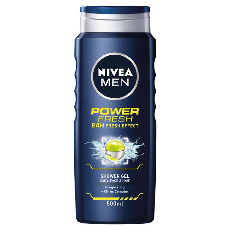 Nivea Men Shower Gel Power Fresh 500ml, , hi-res