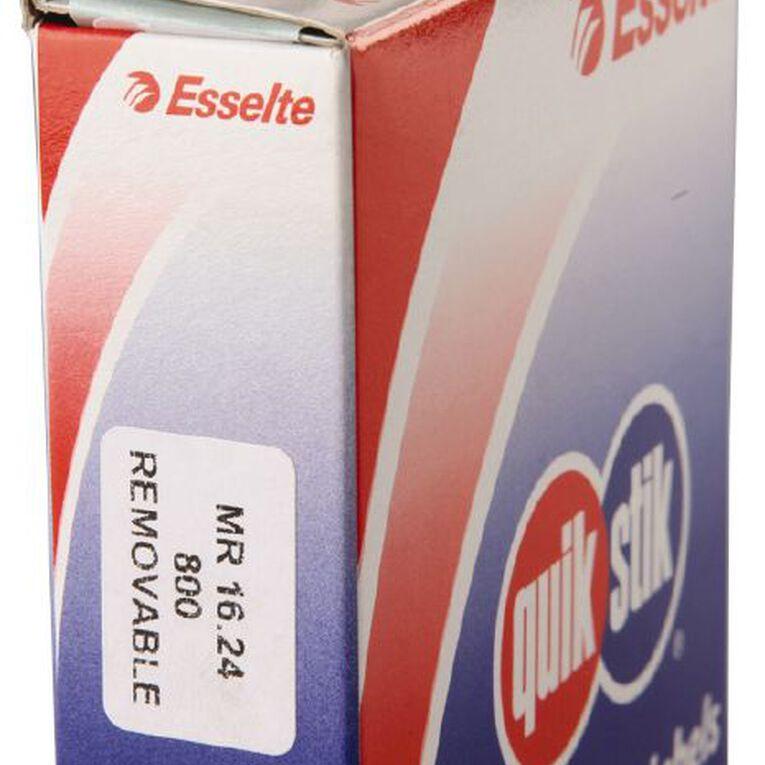 Quik Stik Labels Mr1624 16mm x 24mm 800 Pack White, , hi-res