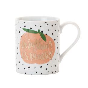 Living & Co Foil Printed Mug Peachy Multi-Coloured