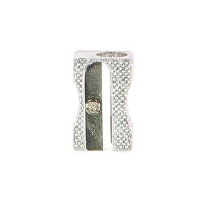 WS Pencil Sharpener 1 Hole Metal Silver
