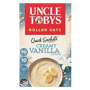 Uncle Tobys Quick Oats Creamy Vanilla 350g