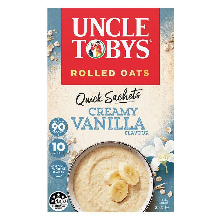 Uncle Tobys Quick Oats Creamy Vanilla 350g, , hi-res