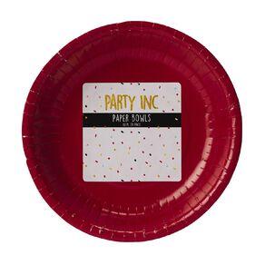 Party Inc Paper Dessert Bowls 18cm Red 20 Pack