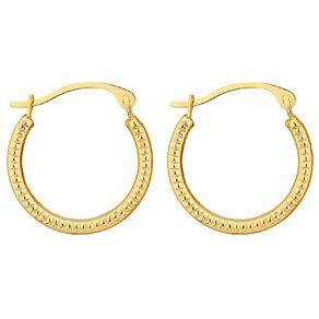 9ct Gold Fancy Hoop Earrings