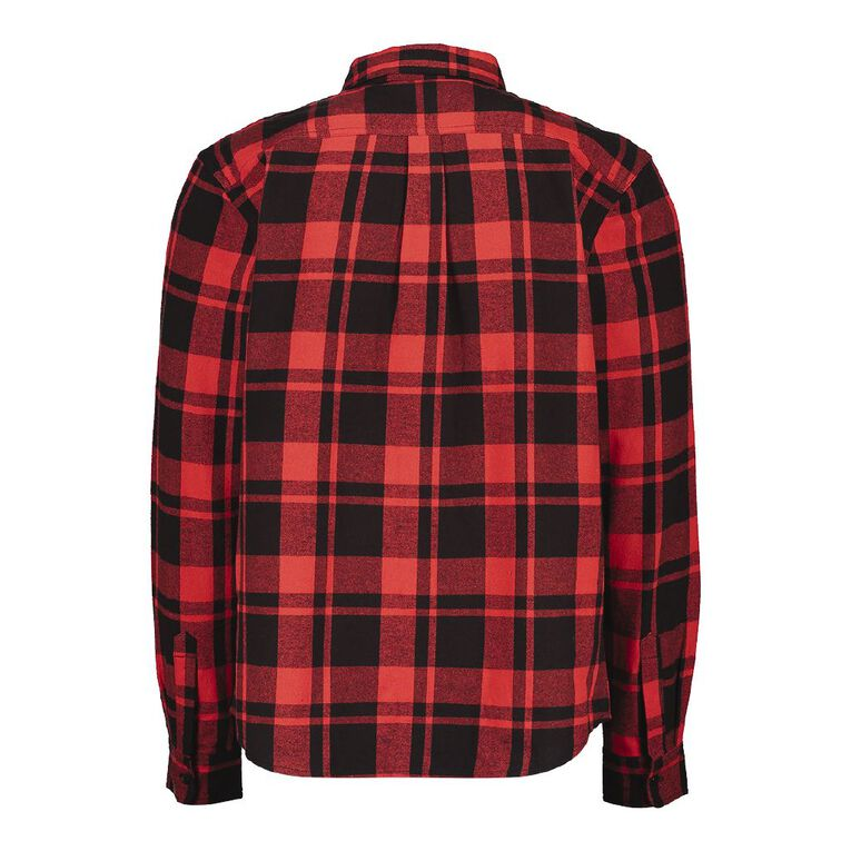 Rivet Men's Industrial Flannelette Shirt, Red, hi-res image number null