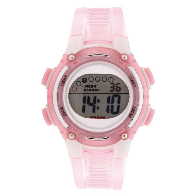 Active Intent Women's Sports Digital Watch Pink, , hi-res