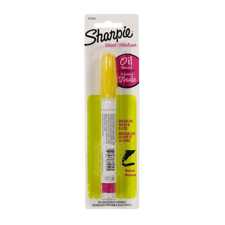 Sharpie Oil-Based Paint Marker Medium Point Yellow - 1-pack, , hi-res
