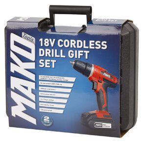 Mako 18v Cordless Drill Gift Set