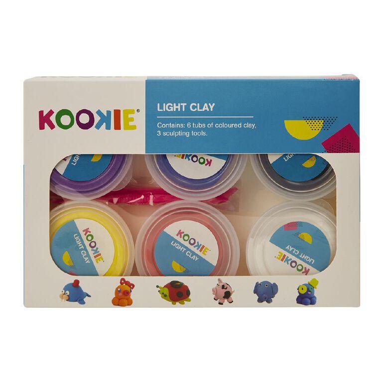 Kookie Light Clay Multi-Coloured 6 Pack, , hi-res