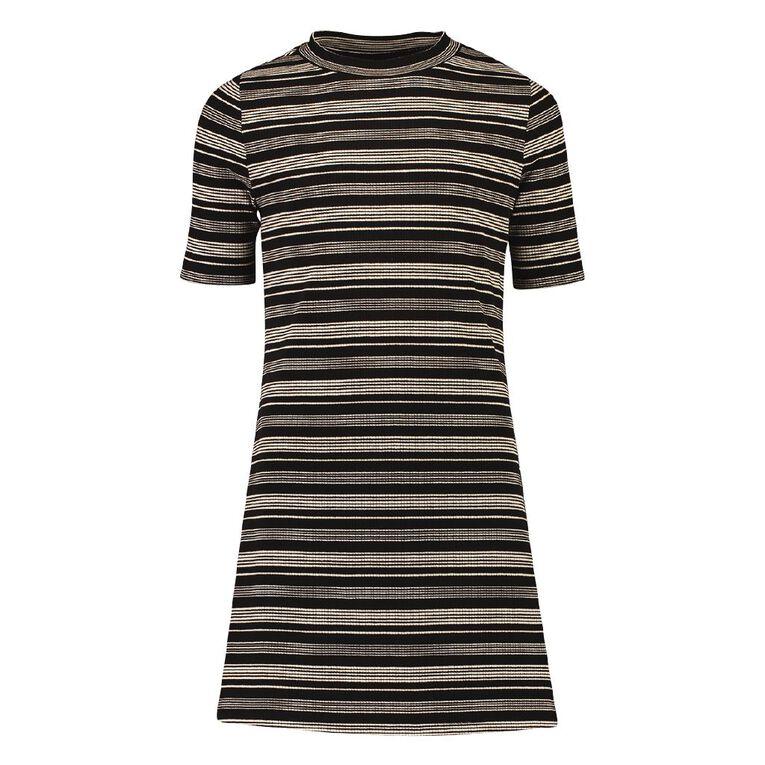 Young Original Rib Dress, Black, hi-res