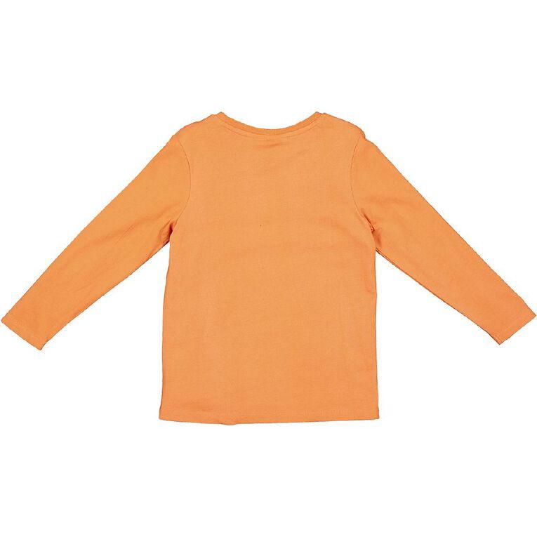 Paw Patrol Long Sleeve Print Tee, Orange, hi-res