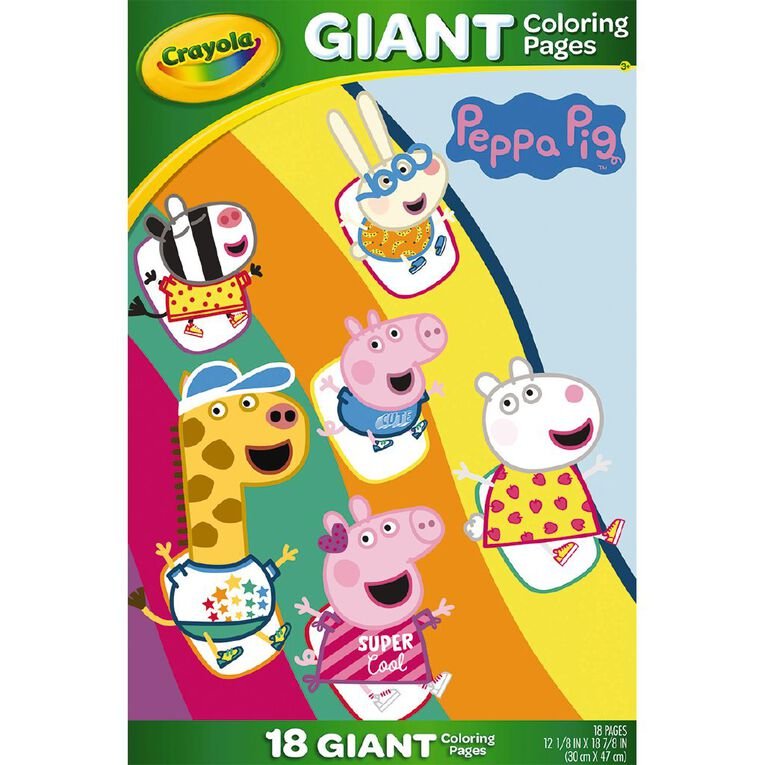 Crayola Giant Coloring Pages Peppa Pig, , hi-res