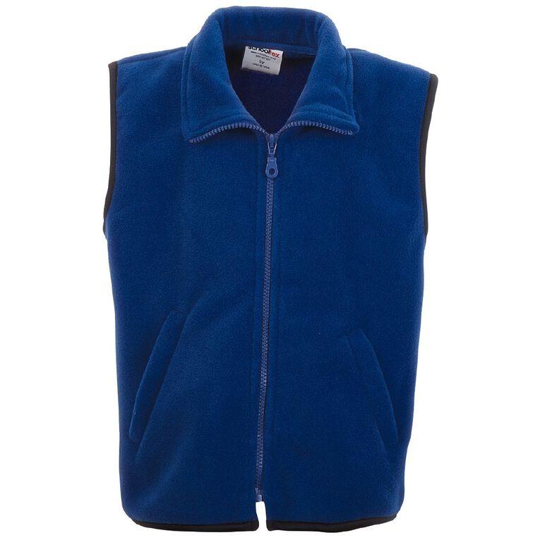Schooltex Kids' Sleeveless Vest, Royal, hi-res