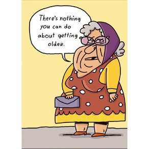John Sands Birthday Card Humour Lady in Glasses and Head