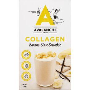 Avalanche Collagen Banana Blast Smoothie 7 Pack