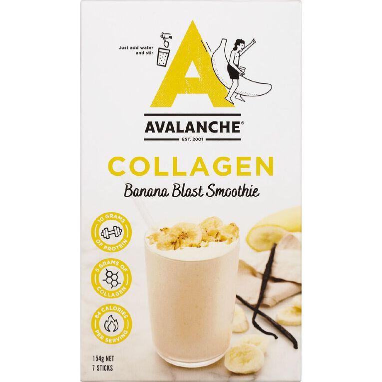 Avalanche Collagen Banana Blast Smoothie 7 Pack, , hi-res