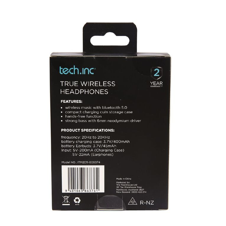 Tech.Inc True Wireless Earbuds Navy Blue, , hi-res