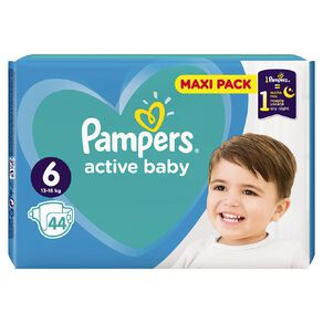 Pampers Nappies Active Baby Maxi Pack S6 (44)