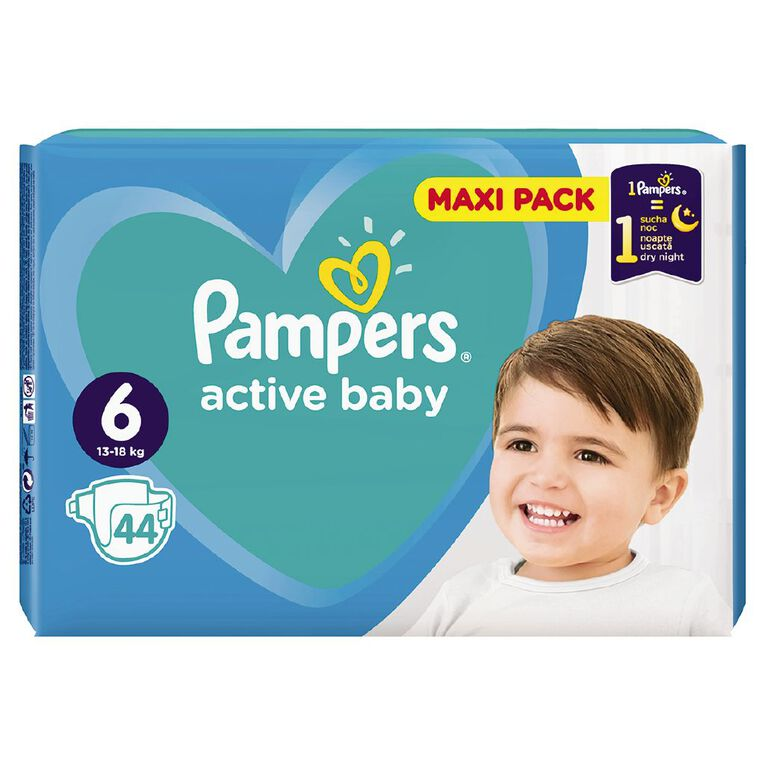 Pampers Nappies Active Baby Maxi Pack S6 (44), , hi-res