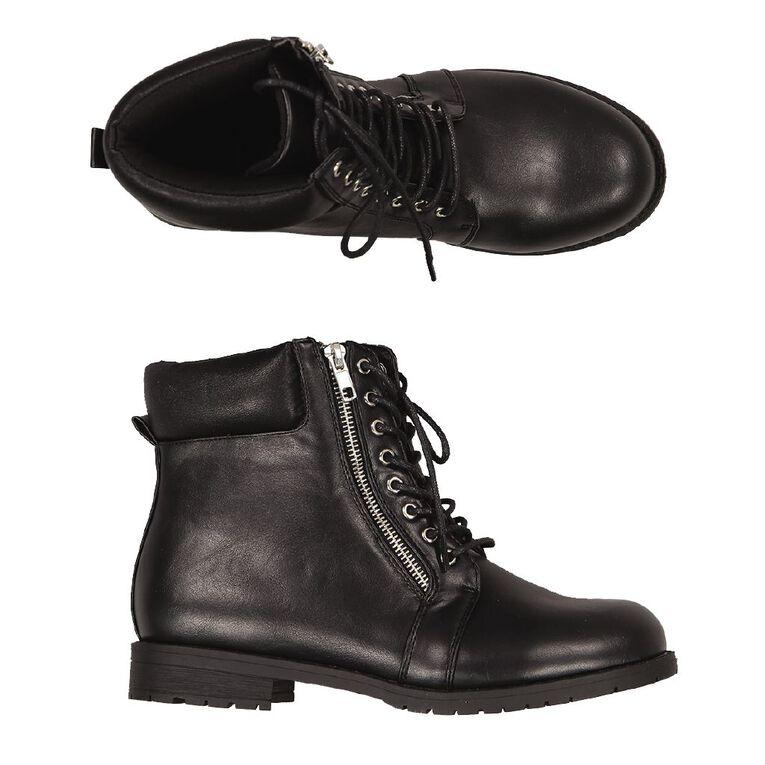 H&H Combat Ankle Boots, Black, hi-res image number null
