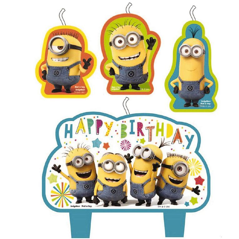 Despicable Me 3 Minion Made Birthday Candle Set 4 Pack, , hi-res
