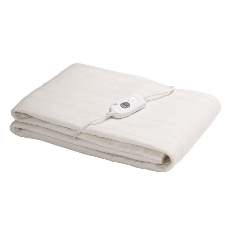 Living & Co Electric Blanket Fitted King Single 107 x 203 x 50cm, , hi-res