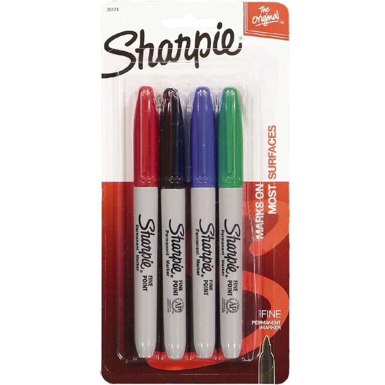 Sharpie Permanent Marker Assorted 4 Pack, , hi-res