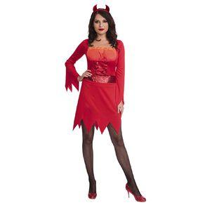 Amscan Hot Devil Costume & Headband Adult Size Medium or Large Assorted