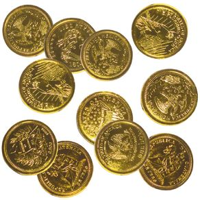 Artwrap Gold Coins Party Favours 16 Pack