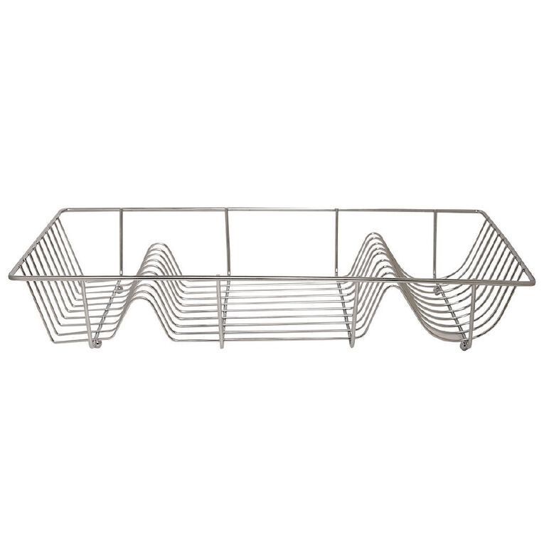 Living & Co Pantry Wire Dish Rack Chrome, , hi-res