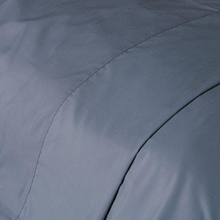 Living & Co Sheet Flat Cotton Rich 270 Thread Count Blue King Single, Blue, hi-res