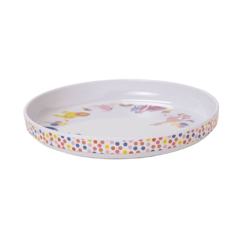Living & Co Kids Printed Plate Soiree Multi-Coloured, , hi-res