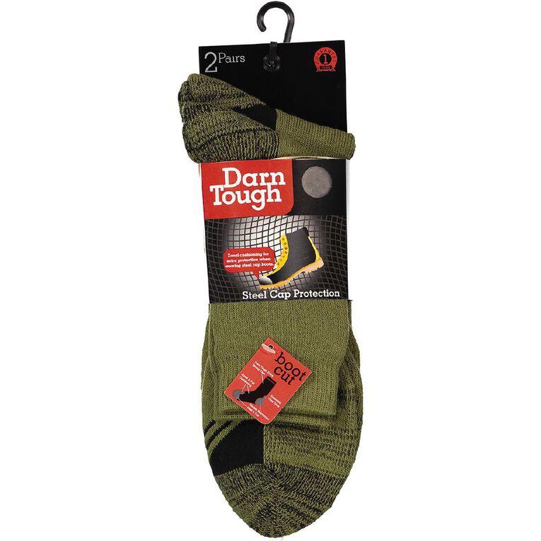 Darn Tough Men's Steelcap Boot Socks 2 Pack, Khaki, hi-res