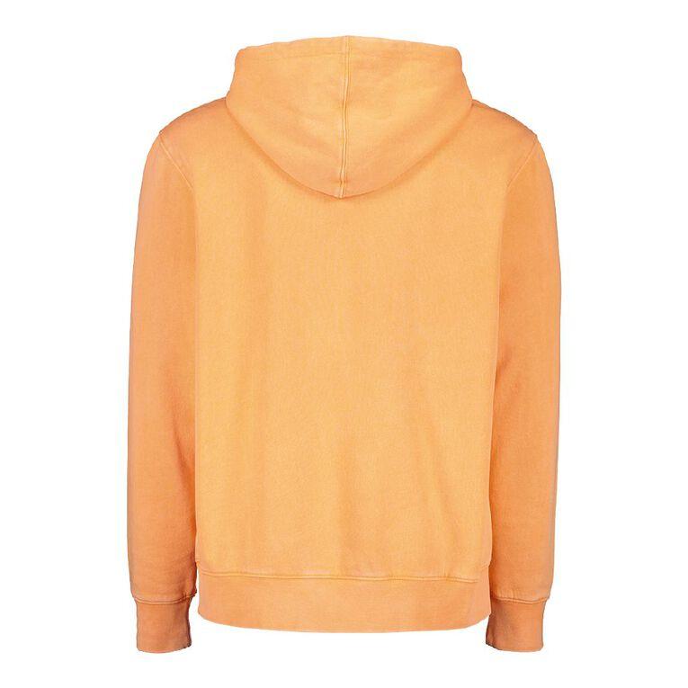 Garage Men's Garment Dyed Hooded Sweatshirt, Orange, hi-res