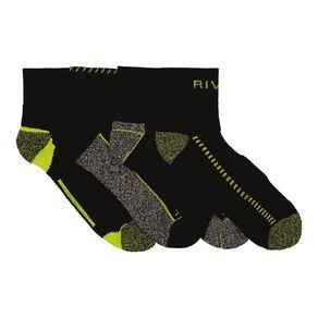 Rivet Men's Ankle Work Socks 4 Pack