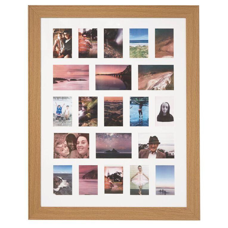 Living & Co Collage Frame Oak Oversized 80cm x 100cm, , hi-res