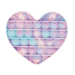 Fidget Pop-It Heart Pastel Tie Dye