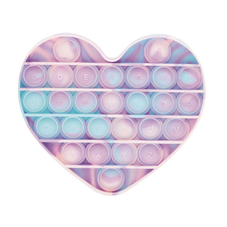 Fidget Pop-It Heart Pastel Tie Dye, , hi-res