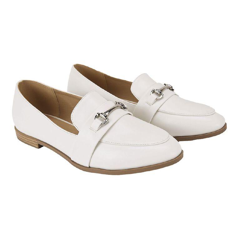 H&H Harper Loafer Shoes, White, hi-res