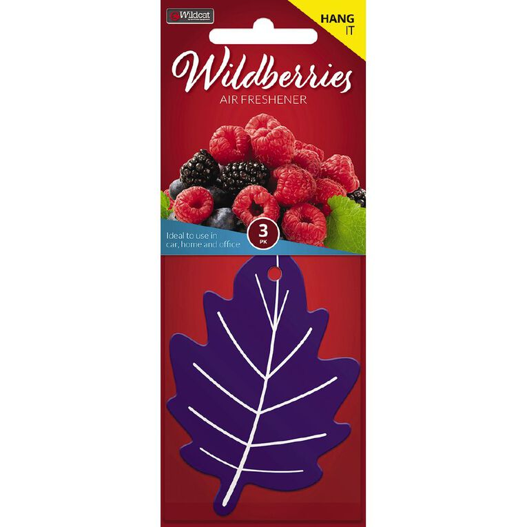 Wildcat Auto Air Freshener Leaf Wildberries 3 Pack, , hi-res