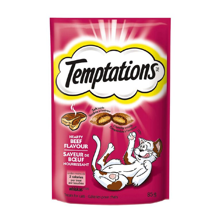 Whiskas Temptations Hearty Beef Flavour 85g, , hi-res